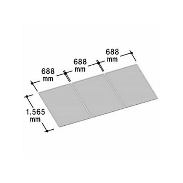 LIXIL INAX 風呂組フタ 幅688×奥行1,565mm×3枚組:YFK-2116C(3) (風呂ふた、フロふた、風呂蓋)