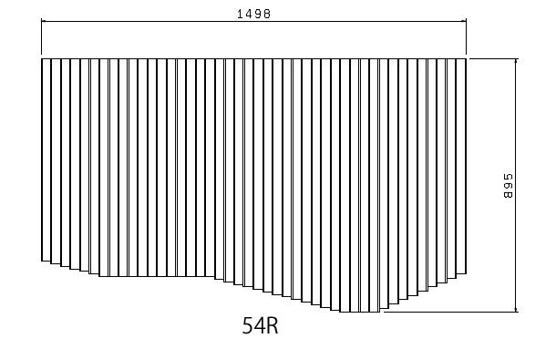 お風呂のふた トクラス (旧ヤマハ)新54R【新品番】B10010698 巻きフタ ヤマハシステムバス用 風呂ふた 巻きふた 【寸法】W1498mm×D895mm(旧品番:BFPFTAA100A0)