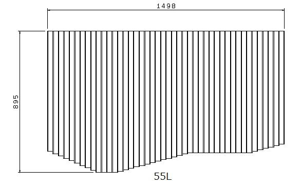 お風呂のふた トクラス (旧ヤマハ)新55L【新品番】B10010699 巻きフタ ヤマハシステムバス用 風呂ふた 巻きふた 【寸法】W1498mm×D895mm(旧品番:BFPFTAA100A1)