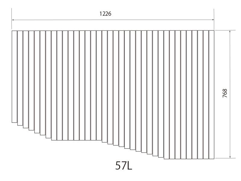 お風呂のふた トクラス (旧ヤマハ)新57L【新品番】B10010701 巻きフタ ヤマハシステムバス用 風呂ふた 巻きふた 【寸法】W1226mm×D768mm(旧品番:BFPFTAA110A1)