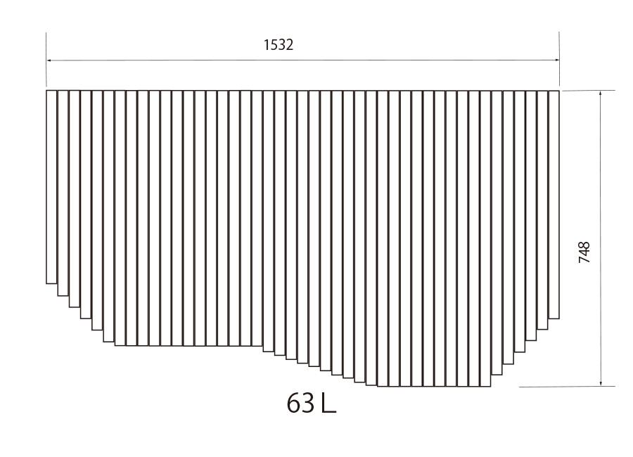 お風呂のふた トクラス (旧ヤマハ)新63L【新品番】FFMADW2A1 巻きフタ ヤマハシステムバス用 風呂ふた 巻きふた 【寸法】W1532mm×D748mm(旧品番:GFFMADW2AX)