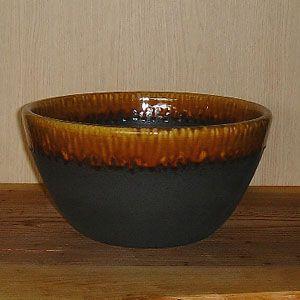 洗面ボウル 信楽焼 (和風 陶器製) アメ釉流し ボウル型 (手洗い鉢/洗面鉢/洗面ボール)
