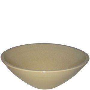 洗面ボウル 信楽焼 (和風 陶器製) 白スパタ そり型 (手洗い鉢/洗面鉢/洗面ボール) 中サイズ30cm