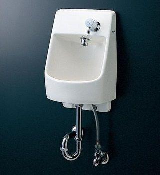 TOTO 壁埋め込み手洗器 L570 ハンドル式単水栓 床排水・壁給水 Sトラップ LSL570AS#NW1