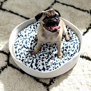 meyou THE NEST グラフィックブルー・クッション 犬猫用ベッド
