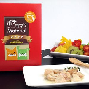 ポチタマ'S Material レトルト 鶏テール 60g (犬用・猫用おやつ トッピング)