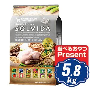 ソルビダ ドッグフード SOLVIDA 室内飼育7歳以上用 5.8kg シニア犬用 ソルビダ(SOLVIDA)【正規品】【オーガニック】