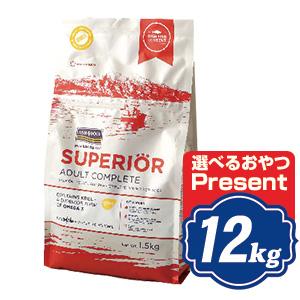フィッシュ4 ドッグ スーペリア アダルト 12kg(6kg×2袋) fish4dogs コンプリート無添加ドッグフード  【正規品】