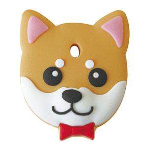 鍵を可愛くカバーするペットキーカバー犬柴犬 赤 メール便可 ペットキーカバー 大決算セール Seasonal Wrap入荷 柴犬 犬