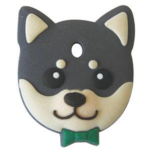 通販 激安◆ 鍵を可愛くカバーするペットキーカバー犬 2020秋冬新作 柴犬 黒 ペットキーカバー メール便可 犬