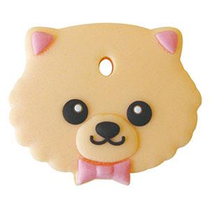 鍵を可愛くカバーするペットキーカバー犬ポメラニアン メール便可 定価 ペットキーカバー 新色追加 ポメラニアン 犬