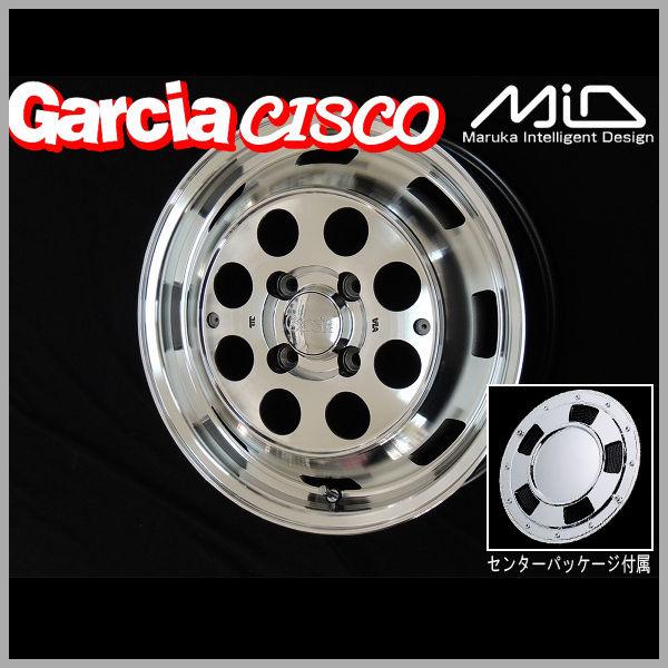 送料無料MID ガルシア シスコメタリックグレーポリッシュ165/60R14 タイヤ ホイール4本セットエブリィワゴン NV100クリッパーリオスクラムワゴン等に