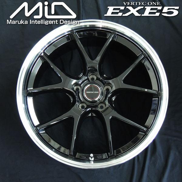 ミニバン ワゴン用 20インチ ホイール タイヤSET 送料無料ハリアー ホイール4本セット タイヤ ヴァーテックワンEXE5グロッシーブラックリムポリッシュ245 激安格安割引情報満載 45R20 高品質新品 レクサスNXMID RAV4