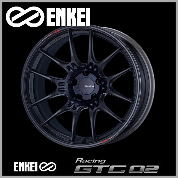 18インチ ホイール4本SET 送料無料ENKEI エンケイ レーシング GTC02 8.0J 『4年保証』 マットブラック18インチ +35 5穴 新品未使用正規品 PCD114.3国産ホイール4本セット