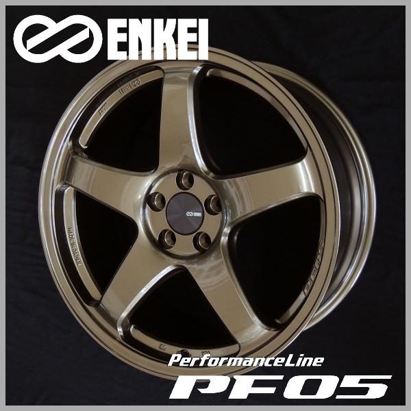 送料無料86 BRZ レクサスCTプリウス PHV ENKEI エンケイパフォーマンスライン PF05ブロンズ 限定カラー18inch 8.0J +45 PCD100-5 225/40R18 タイヤ ホイール4本セット