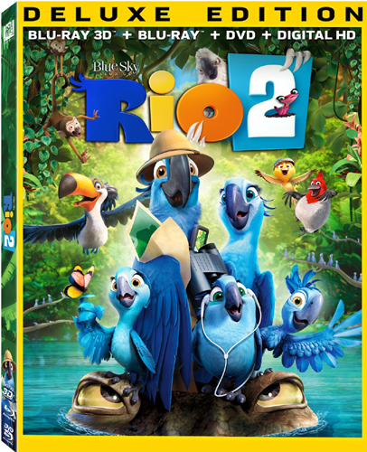 SALE OFF!新品北米版Blu-ray 3D!Rio 2 3D [Blu-ray3D/[Blu-ray/DVD]!<『ブルー 初めての空へ』の続編>