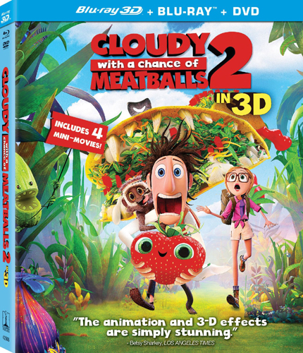 SALE OFF!新品北米版Blu-ray 3D!【くもりときどきミートボール2 フード・アニマル誕生の秘密 3D】 Cloudy with a Chance of Meatballs 2 [Blu-ray 3D/Blu-ray/DVD Combo]!