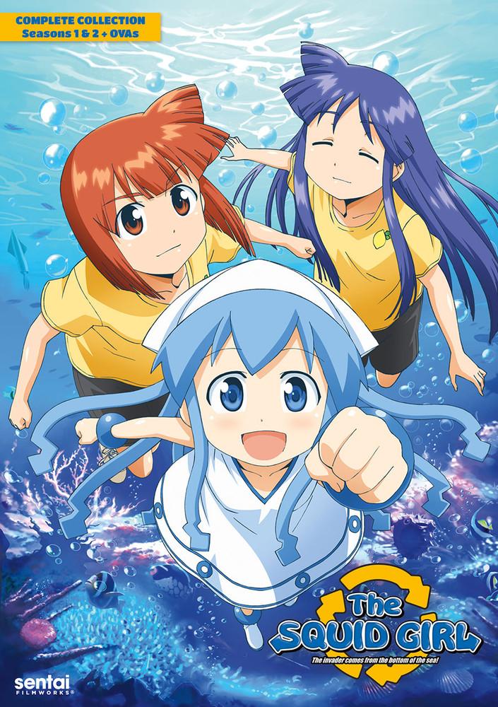 新品北米版DVD!『侵略!イカ娘 第1期 全12話』『侵略!イカ娘 第2期 全12話』『侵略!イカ娘 OVA 全3作』