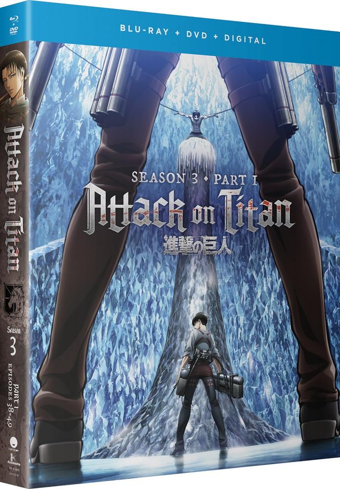 新品北米版Blu-ray!【進撃の巨人】第3期【1】第1話~第12話