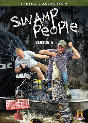 新品北米版DVD!【アリゲーター$ハンター~命知らずの男たち~】 Swamp People: Season 5!