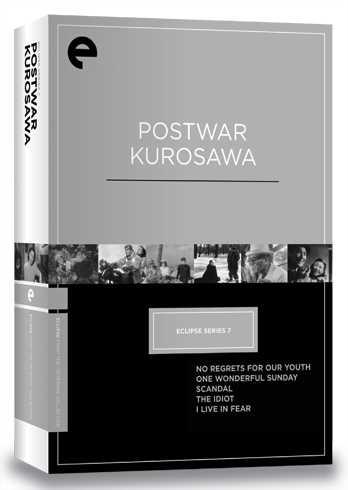新品北米版DVD!【黒澤明監督 戦後5作品セット】(『わが青春に悔なし』『素晴らしき日曜日』『醜聞』『白痴』『生きものの記録』) Eclipse Series 7: Postwar Kurosawa
