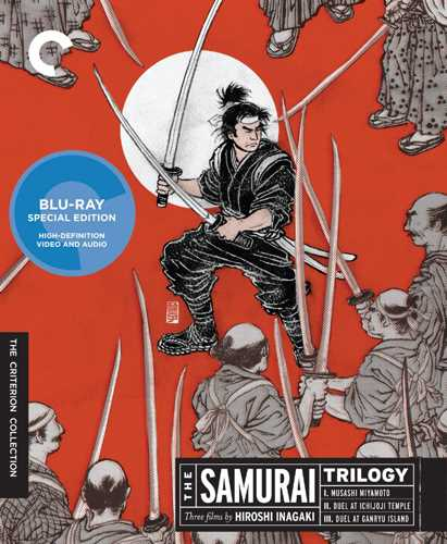 新品北米版Blu-ray!【稲垣浩監督 宮本武蔵 3部作】 The Samurai Trilogy (Criterion Collection) [Blu-ray]!