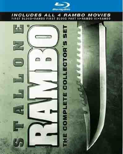 新品北米版Blu-ray!Rambo: The Complete Collector's Set (4 Discs) (Blu-ray)!
