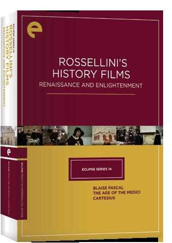 新品北米版DVD!【ロベルト・ロッセリーニ 3作品セット】 Eclipse Series 14: Rossellini's History Films - Renaissance and Enlightenment
