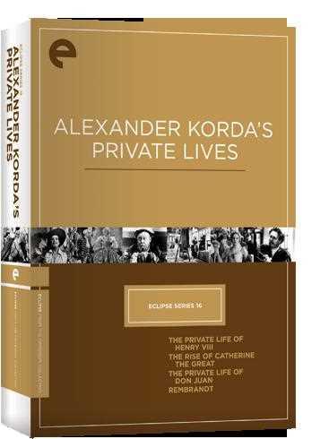 新品北米版DVD!【アレクサンダー・コルダ 4作品セット】(『ヘンリー八世の私生活』『The Rise Of Catherine The Great』『ドン・ファン』『描かれた人生』) Eclipse Series 16: Alexander Korda's Private Lives