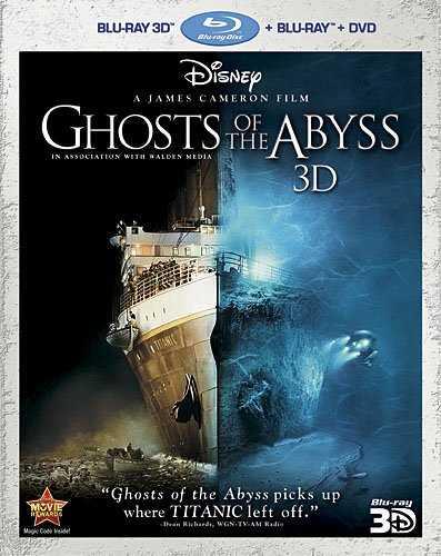 新品北米版Blu-ray 3D!【ジェームズ・キャメロンのタイタニックの秘密】 Ghosts of the Abyss 3D (Three-Disc Combo: Blu-ray 3D/Blu-ray/DVD)