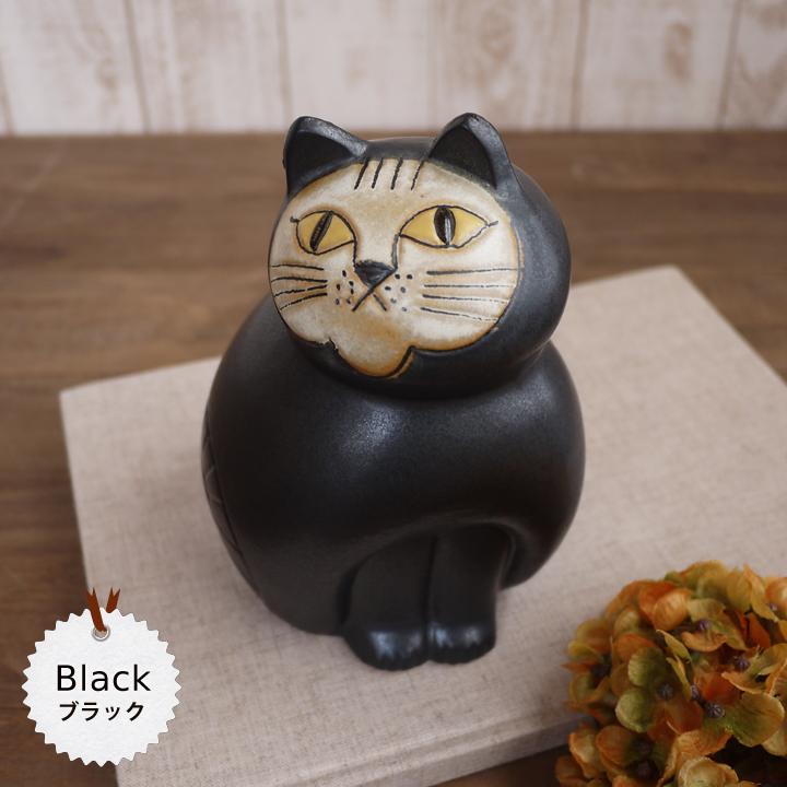 リサラーソン(Lisa Larson) ミアキャット ブラック(Mサイズ) |猫グッズ 猫雑貨 猫 ねこ 置物 |【569524】