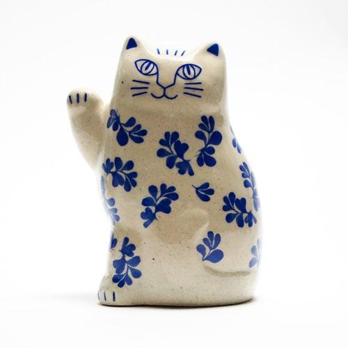 リサラーソン(Lisa Larson)まねくねこリサラーソンの招き猫 波佐見焼|猫グッズ 猫雑貨 ねこ 置物 |