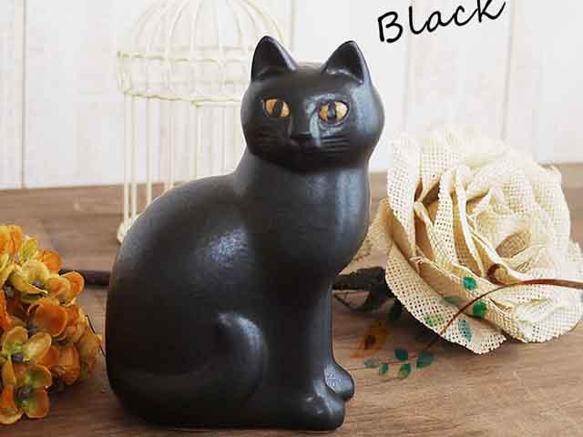 リサラーソン(Lisa Larson) Cat Mans medium (Black)キャットマンズ ミディアム ブラック  猫グッズ 猫雑貨 猫 ねこ 置物  