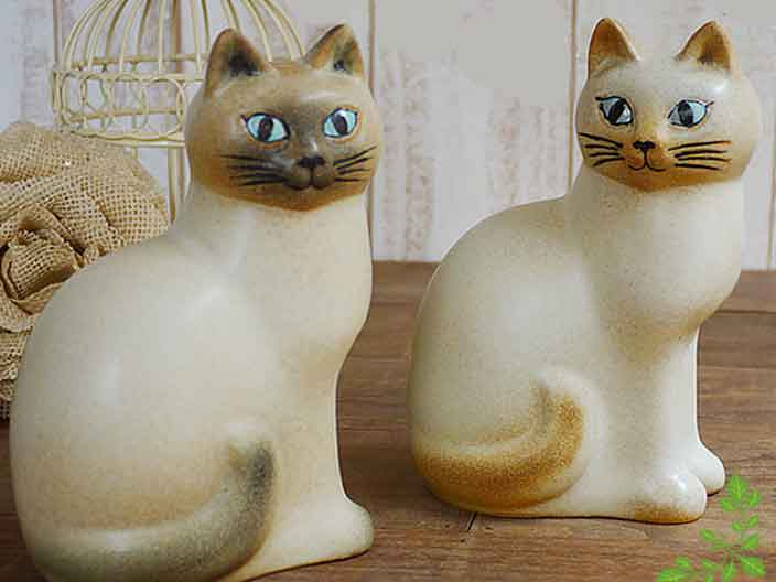 リサラーソン(Lisa Larson) Cat Mans medium (White)キャットマンズ ミディアム ホワイト |猫グッズ 猫雑貨 猫 ねこ 置物 |【05P27May16】