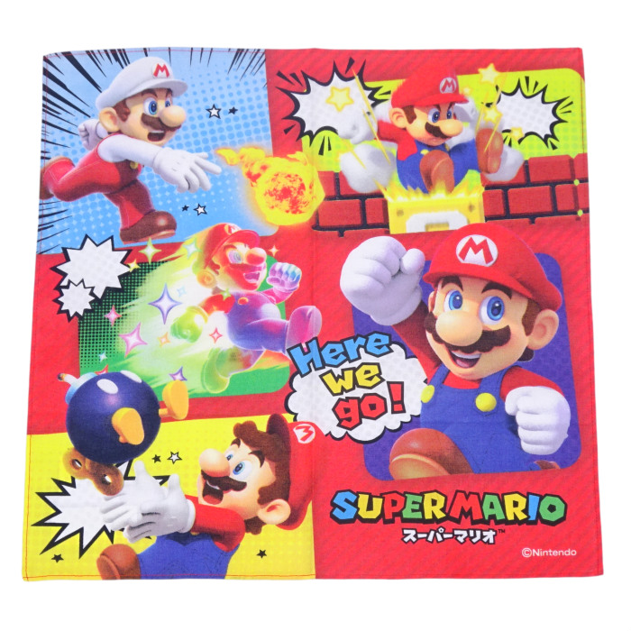 슈퍼 마리오 3D 랜드 마리오 카트 8 손수건 아이 키즈 용품 아동용 3 매 세트 선물 선물 소년 유치원 유아 학교 운영