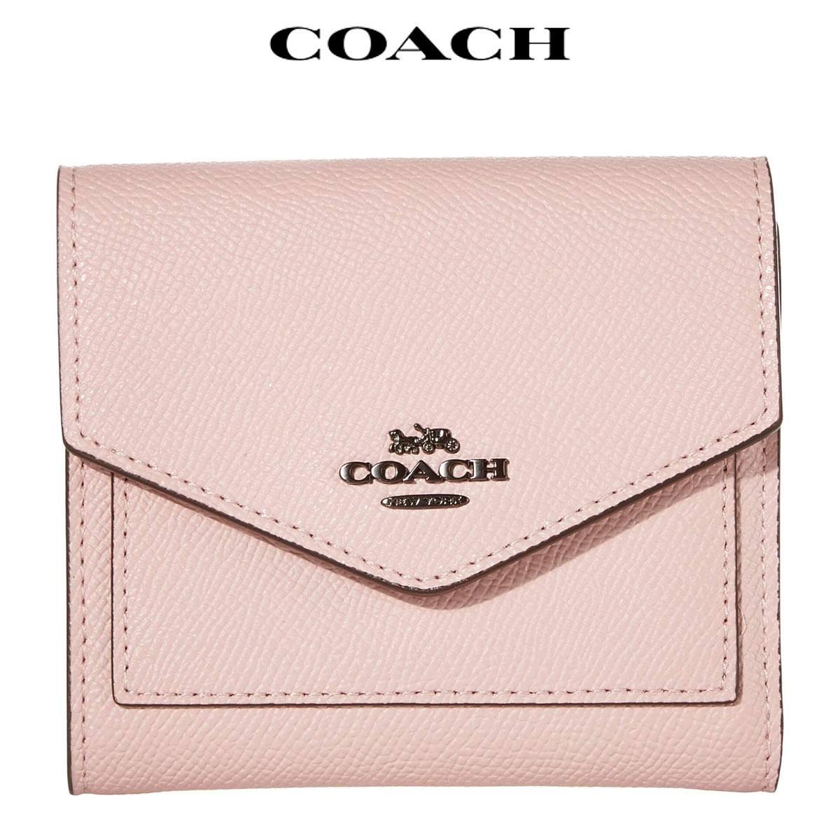 コーチ 財布 三つ折り アウトレット ピンク 三つ折り財布 レディース 折り財布 ミニ財布 Coach