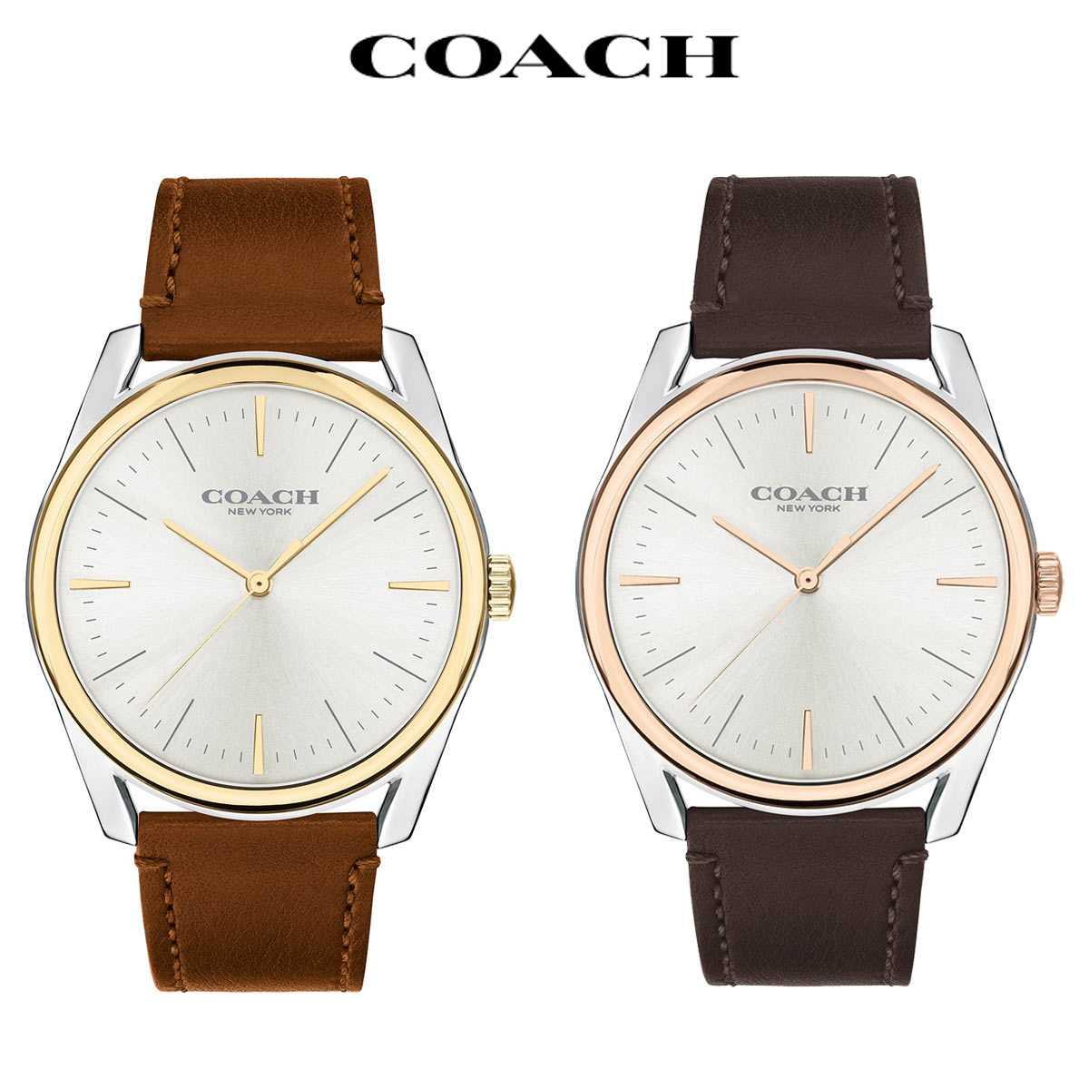 おしゃれ 防水 メンズ ブランド 時計 男性 Preston COACH コーチ プレストン 腕時計 後払い