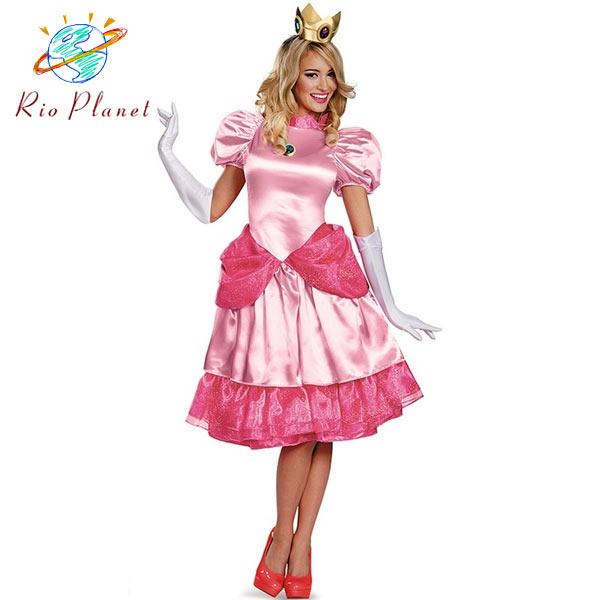 マリオ コスプレ 衣装 ピーチ姫 大人用 マリオ コスプレ 衣装 ピーチ姫 大人用