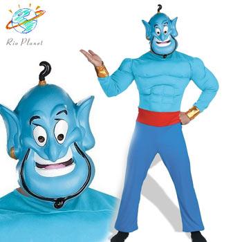 アラジン ジーニー 大人用 筋肉 衣装 コスプレ ハロウィン ディズニー Disney Alladin