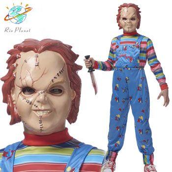 チャイルドプレイ チャッキー 子供用 人形 コスプレ コスチューム マスク 衣装 ハロウィン Child's Play