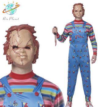 チャイルドプレイ チャッキー 大人用 コスプレ コスチューム 人形 マスク 衣装 ハロウィン Child's Play