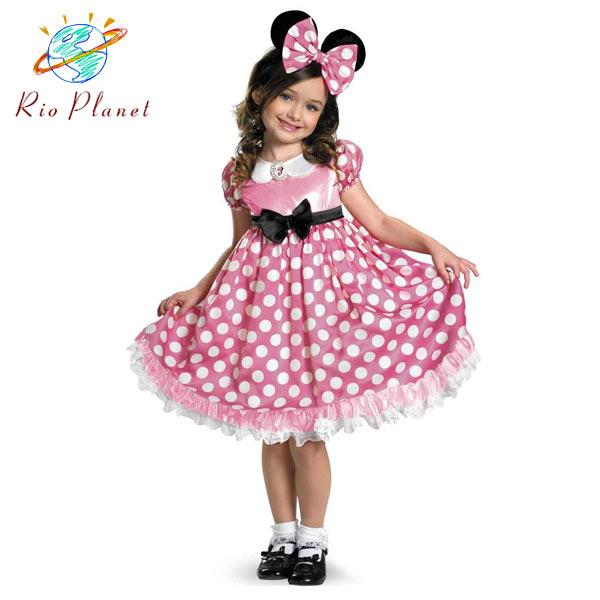 ミニー コスチューム ミニーマウス コスプレ ハロウィン 衣装 子供 ディズニー ミッキー