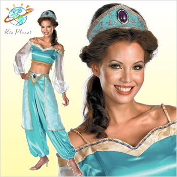 Rio Planet Disney Princess Dress Up Jasmine Cosplay Aladdin Costume