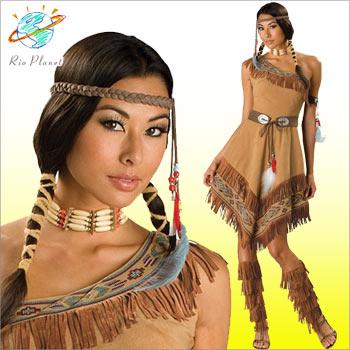 インディアンコスチューム コスプレ 衣装 デラックス 6点セット