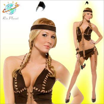 インディアンコスチューム コスプレ 衣装 セクシー 5点セット