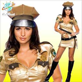 ポリス コスチューム コスプレ 衣装 警察 RENO リノ 911 ゴールド