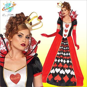 ハロウィン コスプレ レディース 大人 ハートの女王 コスチューム 衣装 仮装 大きいサイズ