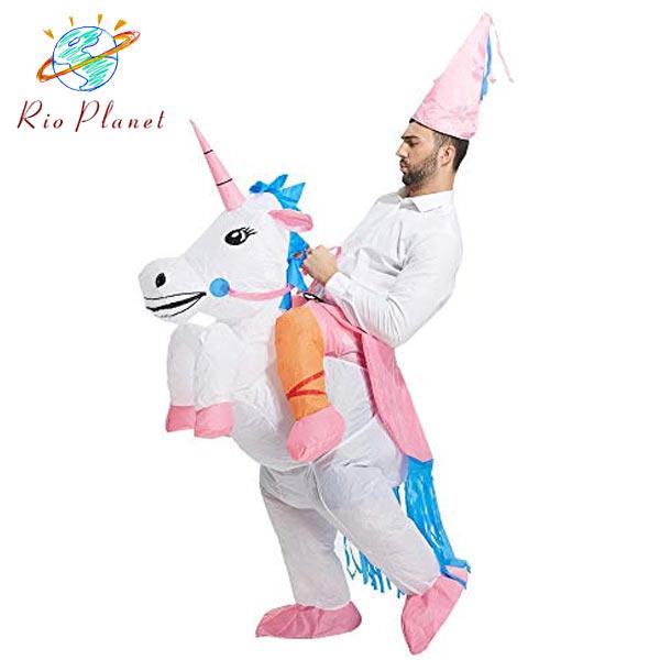 ハロウィン コスプレ メンズ ユニコーン おもしろ着ぐるみ おもしろコスチューム 衣装 仮装 大きいサイズ 男性 かぶりもの アニマル 動物