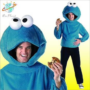 セサミストリート コスチューム コス コスプレ 衣装 仮装 クッキーモンスター 大人 ハロウィン