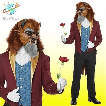 美女と野獣 衣装 コスプレ ビースト 男性 仮装 コスチューム 野獣 実写 大人 ディズニー ハロウィン
